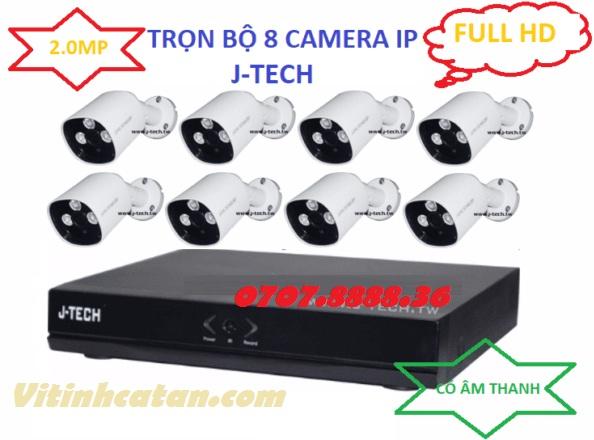 Trọn bộ 8 camera IP 2.0mp có tiếng
