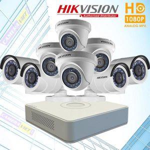 TRỌN BỘ 8 CAMERA HIKVISION FULL HD 2.0MP- 1080P