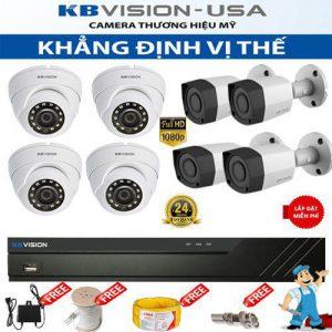 Trọn bộ 8 camera KBVISION HD 1080P