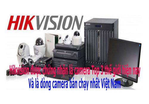 Lắp đặt camera hãng HIKVISION hàng nhập khẩu chính ngạch